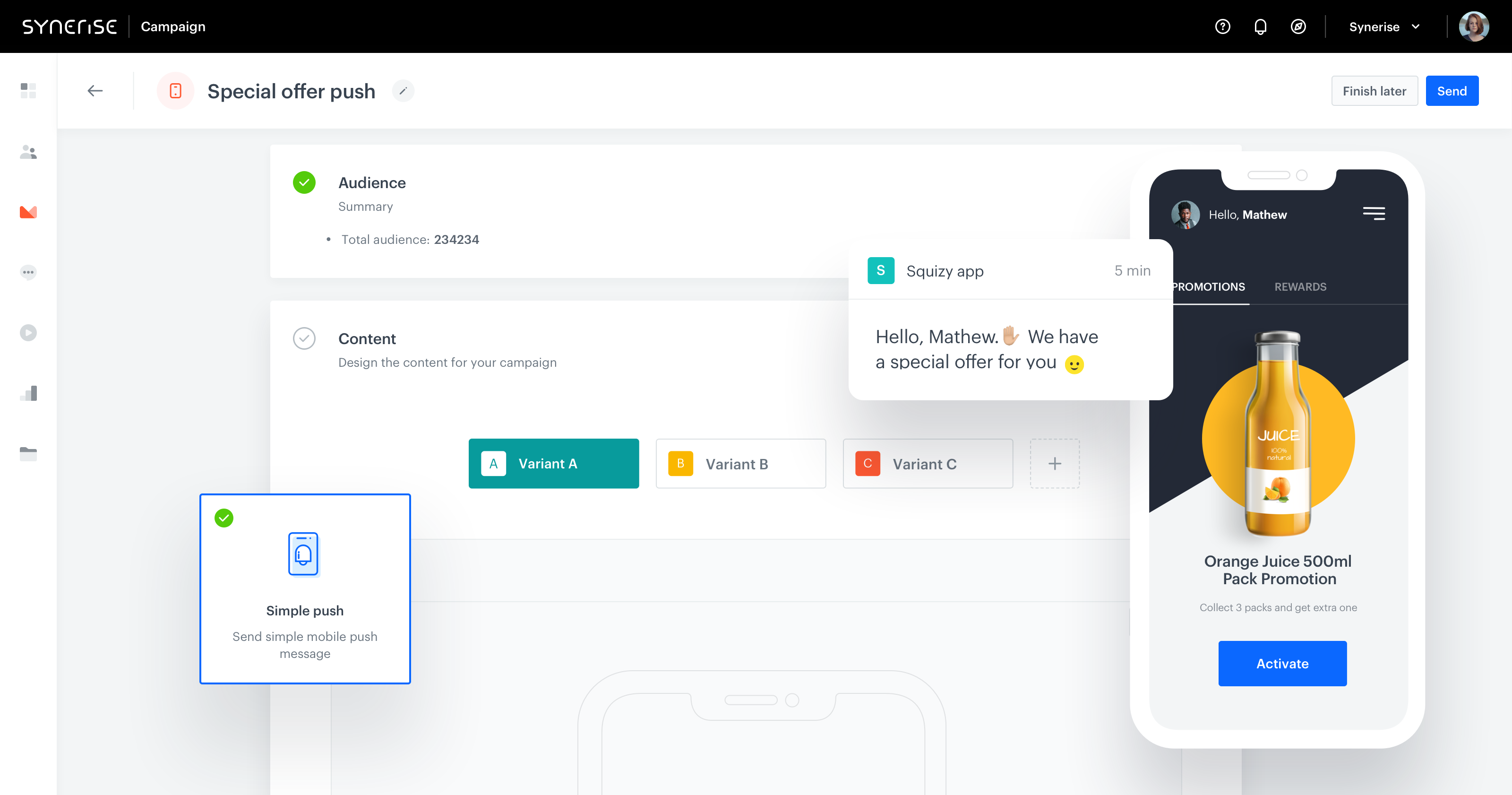 Customer Loyalty Platform - Synerise