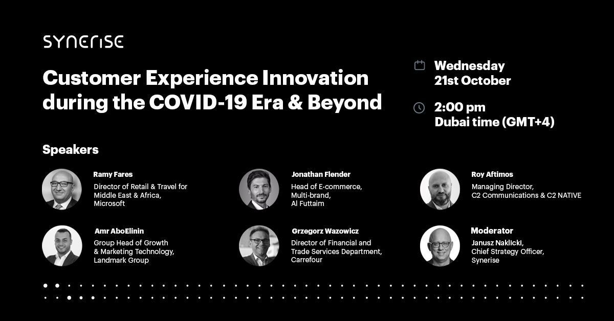 Speakers of Expert Webinar: Customer Experience Innovation during the COVID-19 Era & Beyond